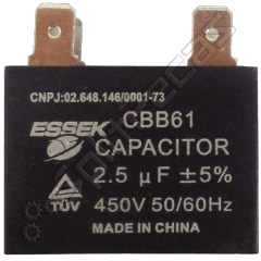 CAPACITOR 2,5 UF+5%  4 POLOS